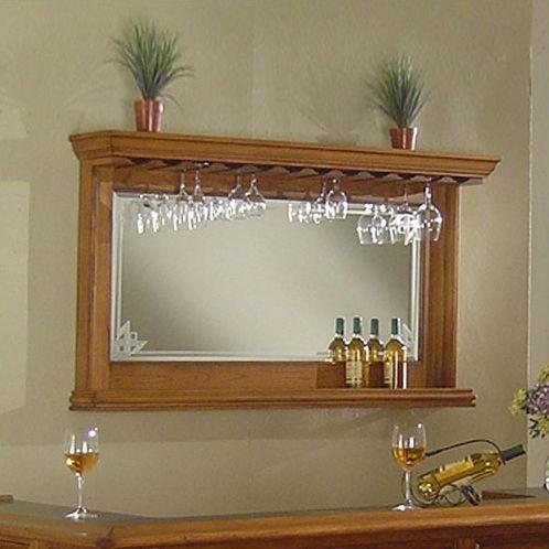 Buy Nova - Manchester Oak Bar Mirror by ECI from www.mmfurniture.com