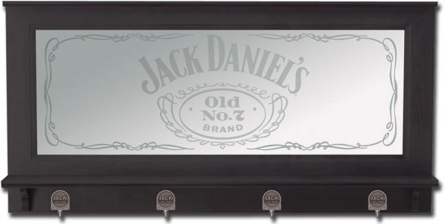 Jack Daniel's Old No. 7 Bar Mirror w/ Pewter Hooks | BoozingGear.com