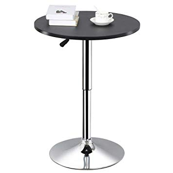 Amazon.com: Topeakmart Round Pub Table Bar Height Chairs Height