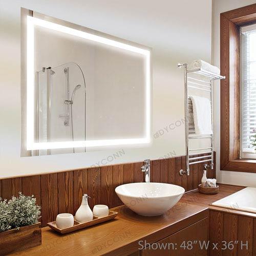 Dyconn Edison 30x36 Horizontal/Vertical Wall Mounted Backlit Vanity