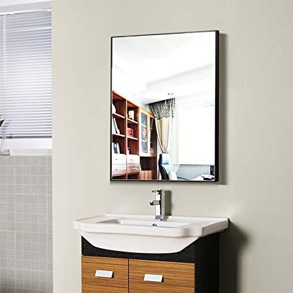 Amazon.com: Hans & Alice Large Rectangular Bathroom Mirror, Wall
