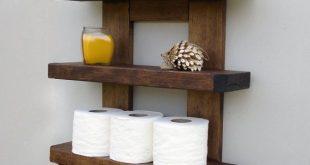 Rustic Bathroom Shelves | Etsy