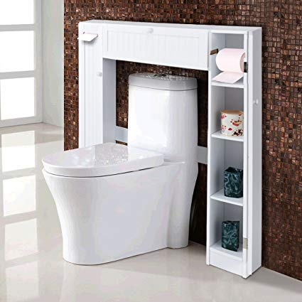 Amazon.com: Giantex Over-The-Toilet Bathroom Storage Cabinet Wooden