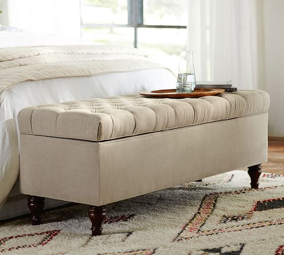 Bedroom Benches, End of Bed Seating & Storage Benches   Pottery Barn