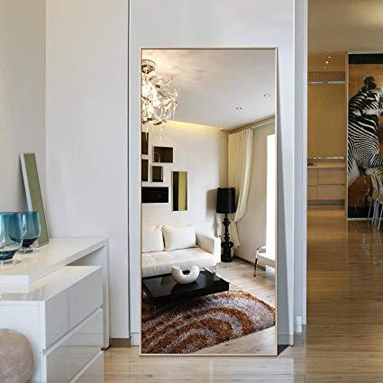 Amazon.com: Hans&Alice Rectangle Bedroom Floor Mirror,Free Standing