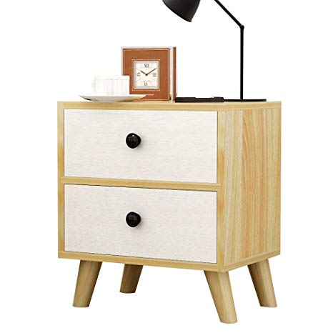 Amazon.com: Solid Wood Bedside Cabinets Beech Wood Lockers Storage
