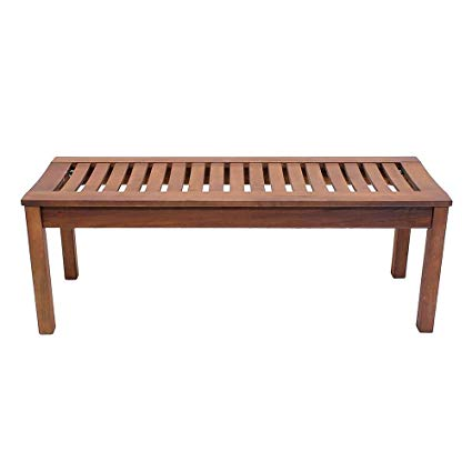 Amazon.com : Achla Designs Backless Bench, 4-Foot - OFB-08 : Outdoor