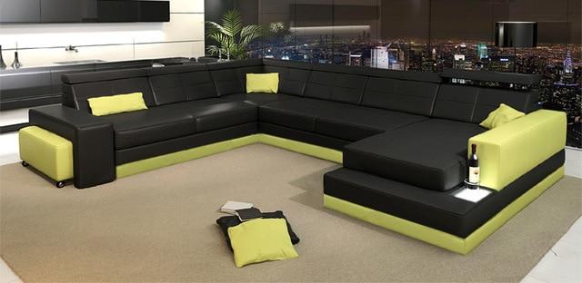 Latest design living room leather sofa big leather sofa 0413 C4010