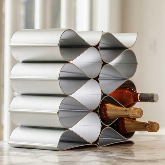 Echelon Wave 12 Bottle Wine Rack | metal | aluminium | aluminum