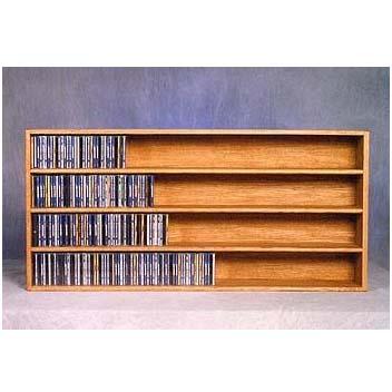 Wood Shed Solid Oak Wall Mount CD Racks TWS-403-4