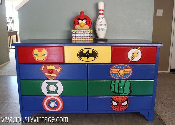 Kid's SUPERHERO DIY Dresser Makeover! | Before and After | Pinterest