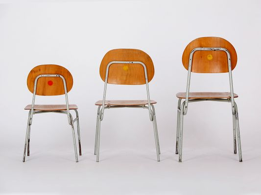 Children's Chairs, 1960s, Set of 3 for sale at Pamono