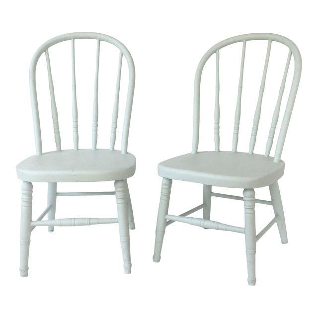 A Pair of Antique Painted Children's Chairs u2014 Kennedy Brown