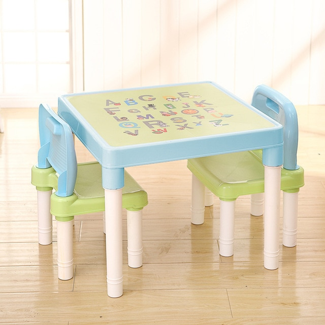 Children's desks and chairs learning table children's plastic chairs