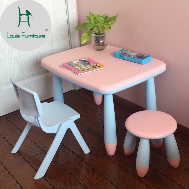 Louis Fashion Children's Desks Chairs Baby Tables Learning-in