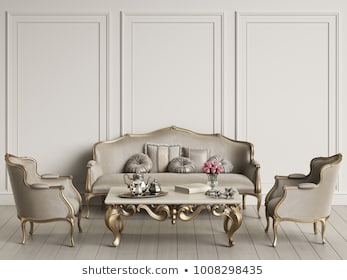 Royalty Free Stock Illustration of Interior Classic Furniture Mockup