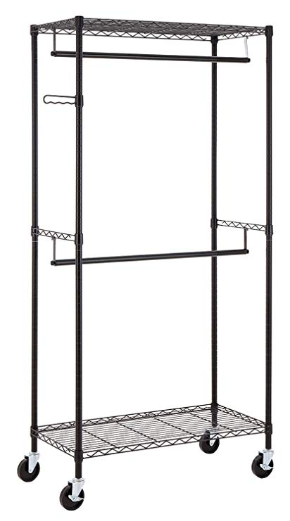 Amazon.com: Finnhomy Heavy Duty Rolling Garment Rack Clothes Rack