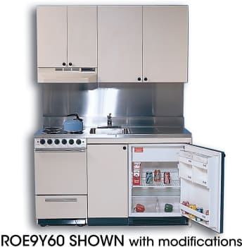 Acme ROE9Y60 Compact Kitchen with Stainless Steel Countertop, 4