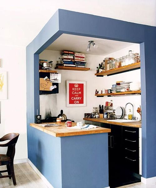 Small Kitchen? Outline It With Paint! | kitchens | Kitchen, Kitchen