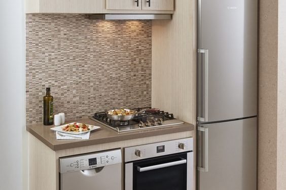 Compact Kitchens -- Make Small Beautiful | Elegant Quartz, Granite