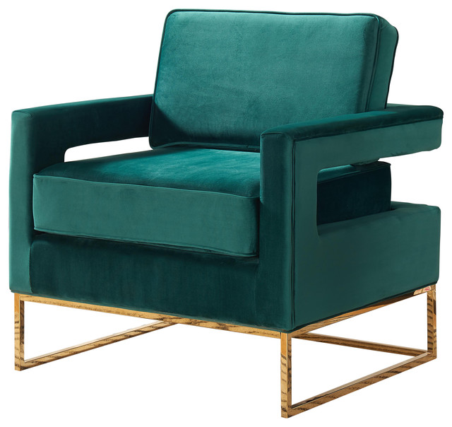 Noah Velvet Accent Chair - Contemporary - Armchairs And Accent