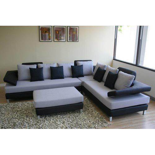 Grey And Black Corner Sofa Set, Rs 65000 /set, Vishwakarma Wood