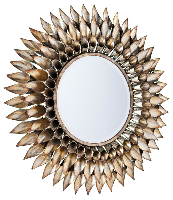 Roxbury Round Decorative Wall Mirror - Contemporary - Wall Mirrors - by SEI