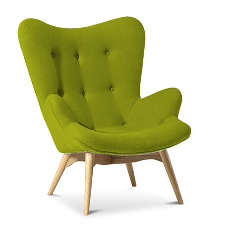 Cashmere Designer Armchair Lime | Specialist Furniture Contracts