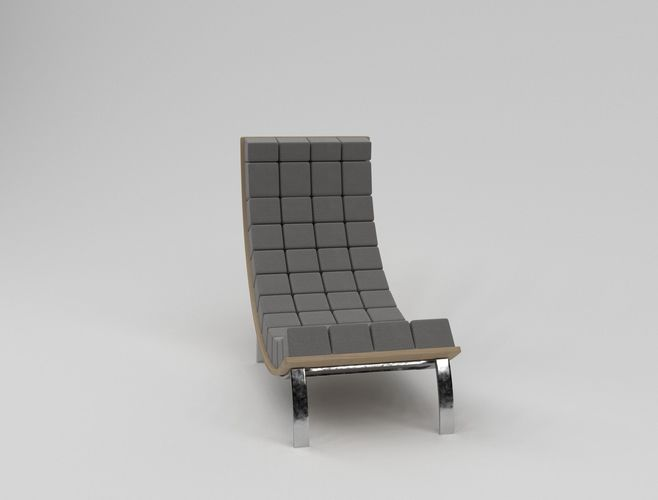 designer armchair fabric 3D model | CGTrader