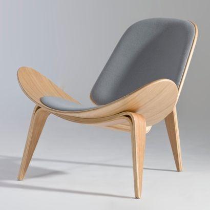 Hans J. Wegner- shell lounge chair | Furniture Design | Chair Design