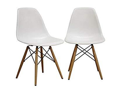 Amazon.com - Fancierstudio Mid Century Modern Designer Chair Plastic