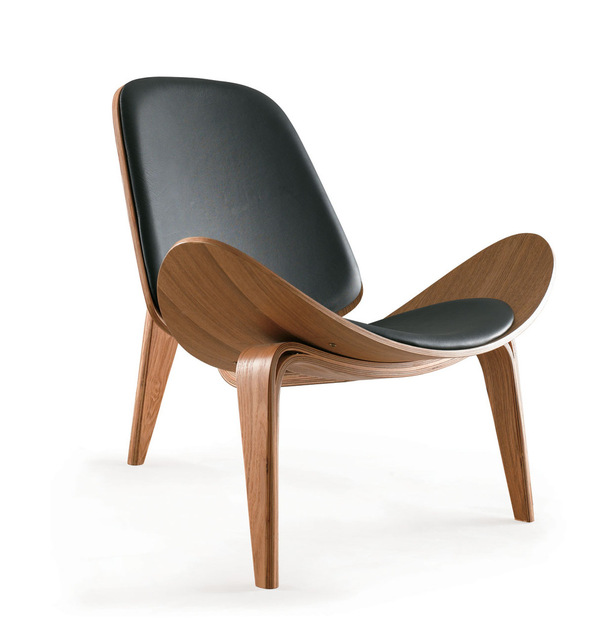 Aircraft chair triangle shell simple wood chair armchair bentwood