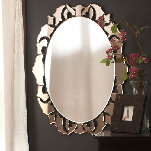 Small Decorative Modern Mirror - Small Designer Mirror and Small