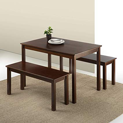 Amazon.com - Zinus Juliet Espresso Wood Dining Table with Two