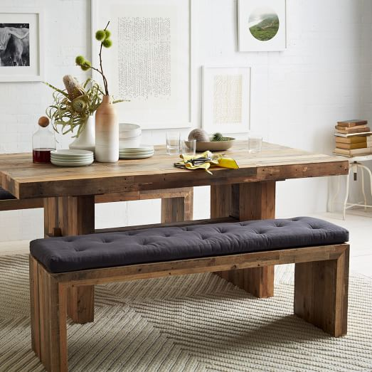 Emmerson® Reclaimed Wood Dining Bench - Reclaimed Pine | west elm