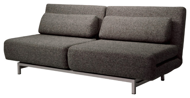 Iso Double Sofa Bed, Brown Tweed - Contemporary - Sleeper Sofas - by