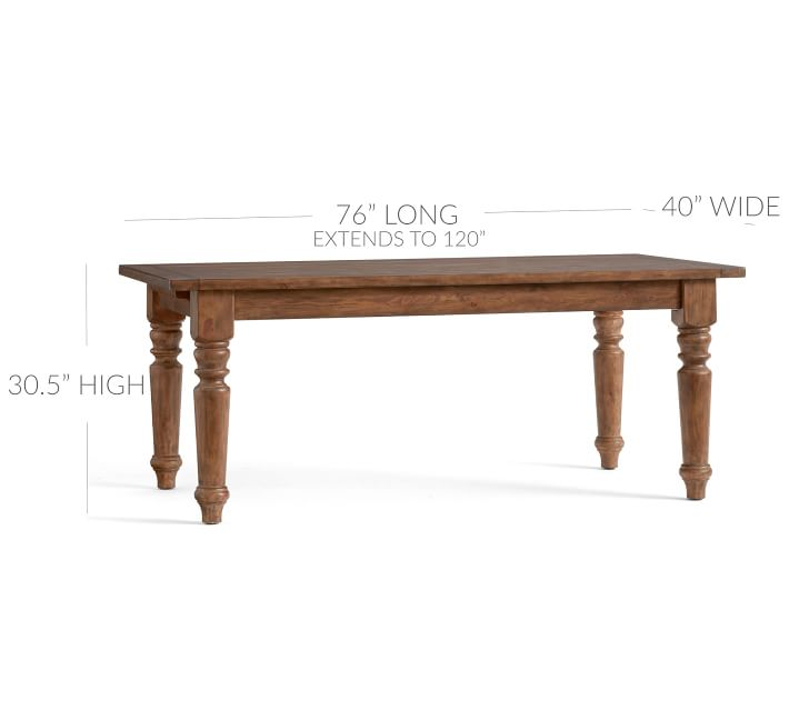 Sumner Extending Dining Table | Pottery Barn