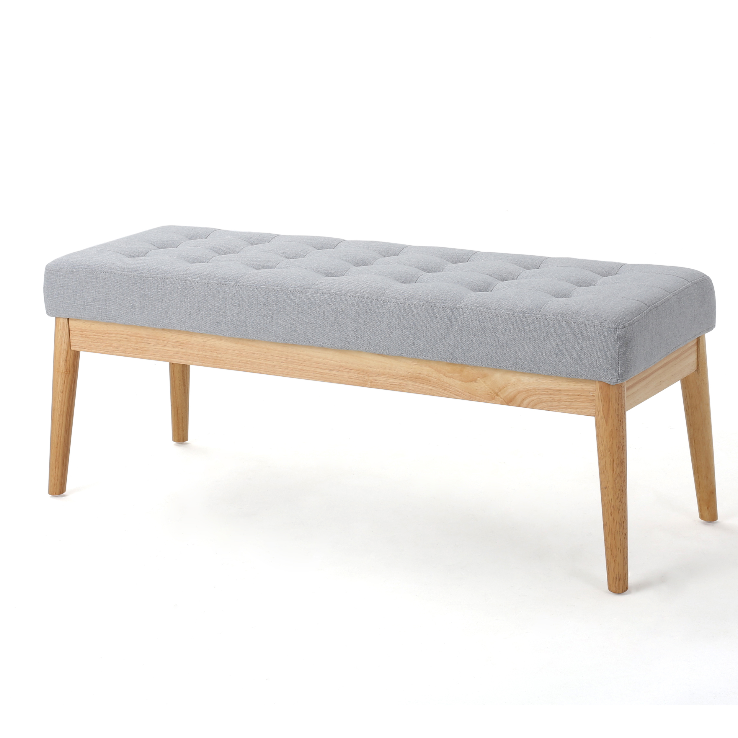 Anglo Fabric Bench, Light Grey - Walmart.com