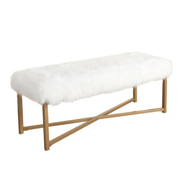 Stylish and Comfortable Fabric Bench
