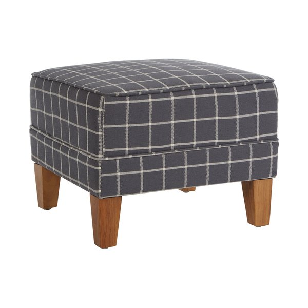 August Grove Avner Check Footstool | Wayfair.co.uk