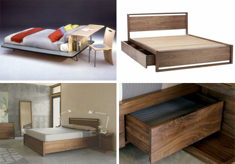 Multi-Functional Beds Designed with Desk & Drawer Space