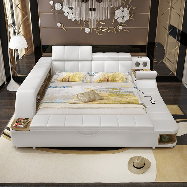 0411TB023 Modern soft bed tatami bedroom King queen double size