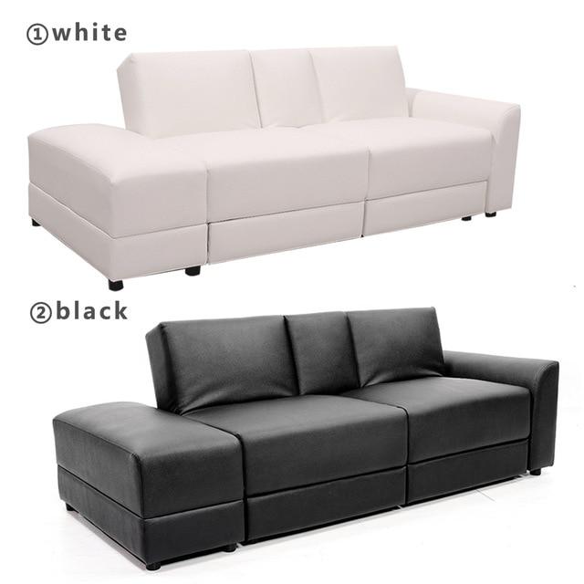 Functional Sofa Bed PU Sectional Sofa Lounge Storage Drawer Living