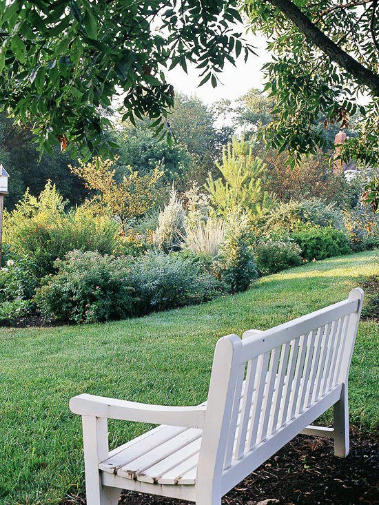The Many Moods of Garden Benches | Better Homes & Gardens