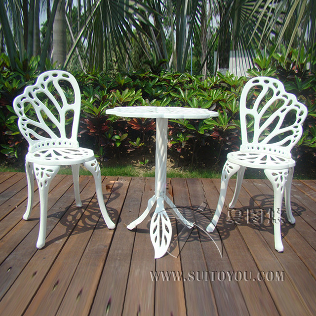 3 piece hot sale cast aluminum patio furniture garden furniture