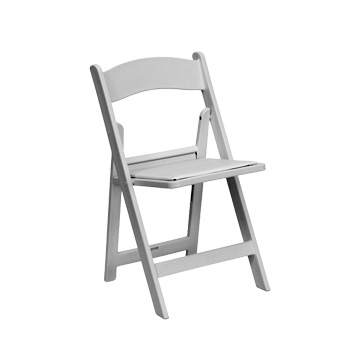 White Garden Folding Chair for Weddings and Parties from 5 Star Rental