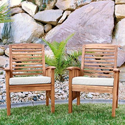 Amazon.com : Walker Edison Furniture Company Solid Acacia Wood Patio