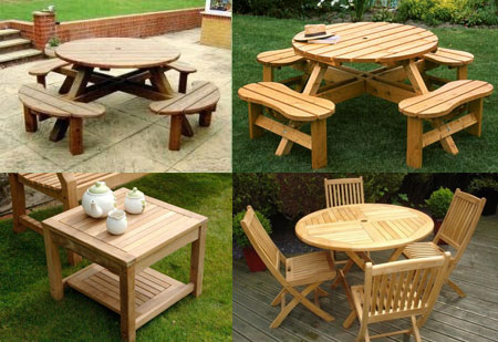 Wooden Garden Tables, Wood Patio Tables, Outdoor Wooden Tables, Wood