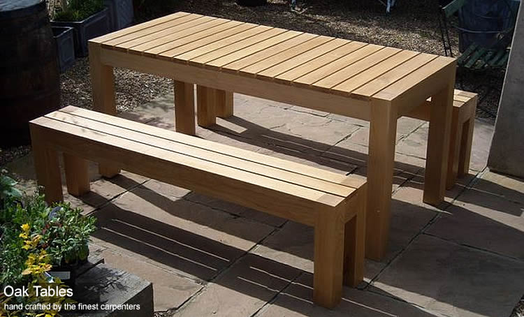 Oak Garden Tables