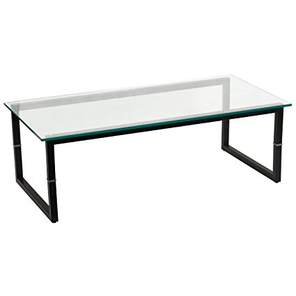 Amazon.com: My Friendly Office MFO Glass Coffee Table: Kitchen & Dining